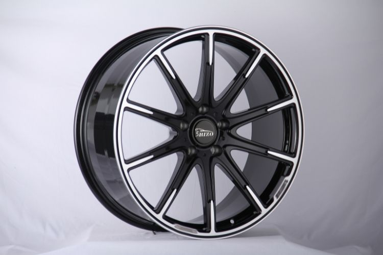 BRABUS 24inch Monoblock 10 spokes Black Machined Face Forged wheels