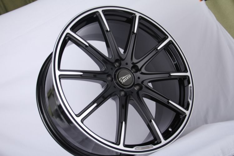 BRABUS 24inch Monoblock 5 holes Black Machined Face Forged wheels