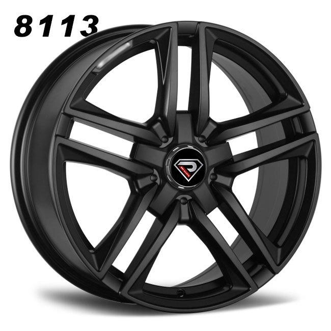 Mercedes-Benz-matt-black-E63-AMG-18inch-staggered-alloy-wheels