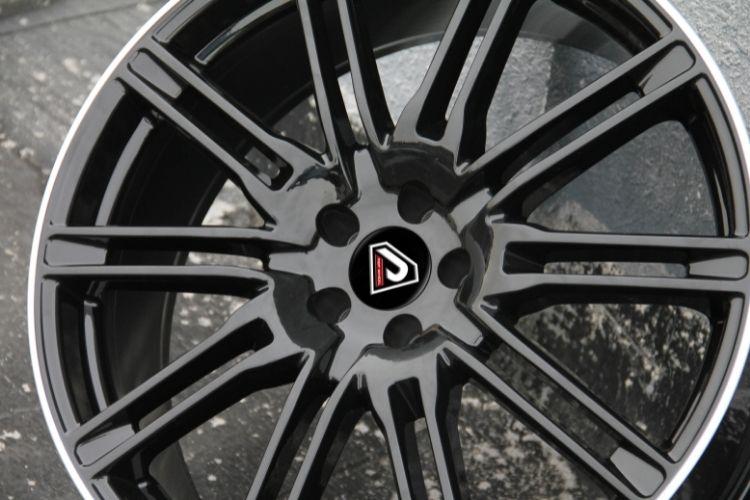 PORSCHE CAYENNE TURBO 5 holes Black Machined Lip Alloy wheels
