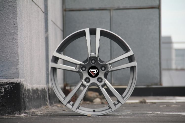 PORSCHE PANAMERA 5 Double spokes 5 holes Gunmetal Machined Face Alloy wheels