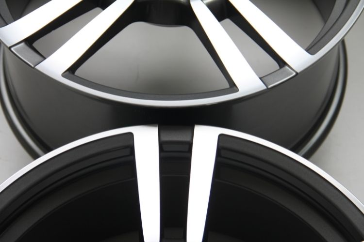 PORSCHE PANAMERA Double spokes Gunmetal Machined Face Alloy wheels