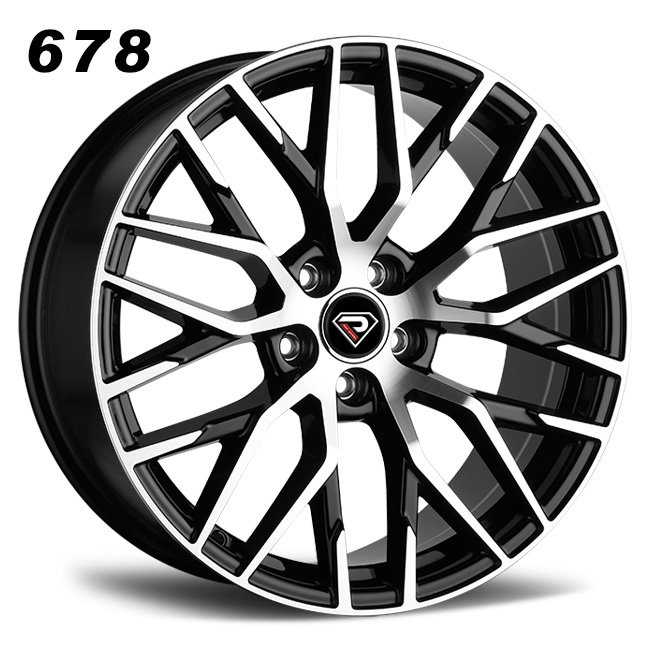 REP 678 BLACK MACHINED FACE WHEELS