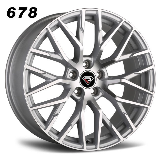 REP 678 SLIVER MACHINED FACE ALLOY WHEELS