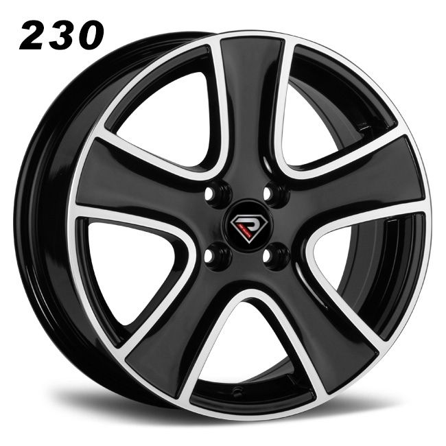 rep 230 renault 17 16inch black alloy wheels for car