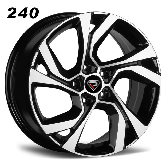 rep 240 renault 16inch black polished 5 holes alloy wheels