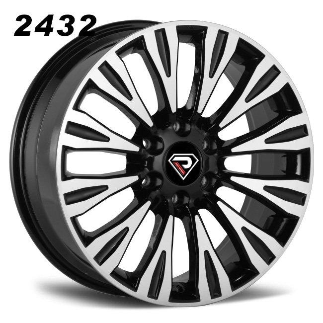 2432 Patrol 18inch 20inch Black Machined Face Alloy Wheels