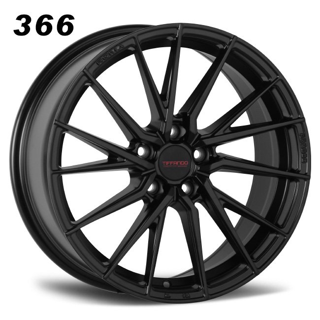 366 TIFFANDO LUXURY Turning spoke Satin Black Alloy Wheels