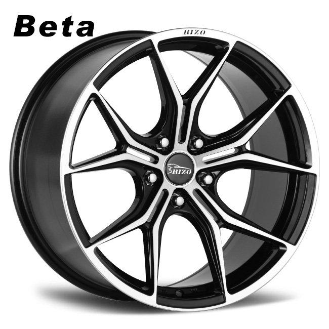 Beta black machined face alloy wheels