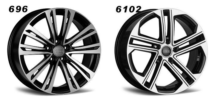 Replica wheels for audi