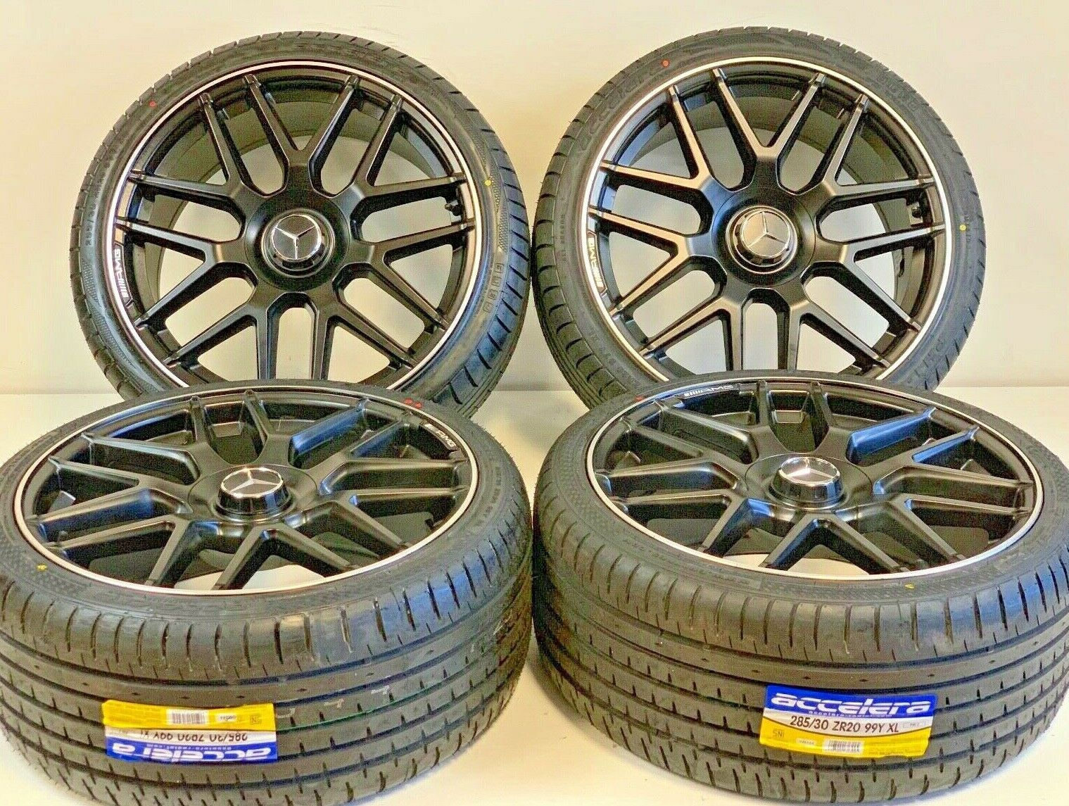 Replica wheels with tires