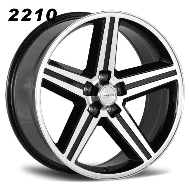 REP 2210 BLACK MACHINED FACE ALLOY WHEELS