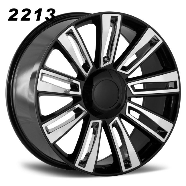 REP 2213 BALCK AND CHROME ALLOY WHEES