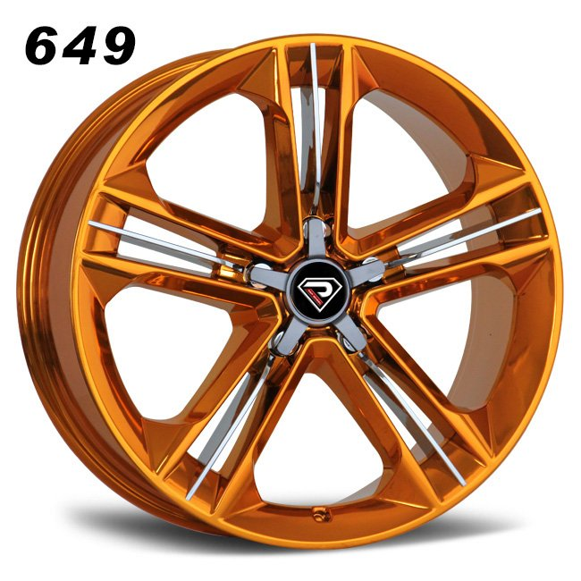 649 New S8 19inch-21inch Gold Chrome Alloy Wheels