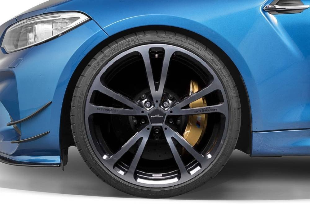Forged wheels with tyres