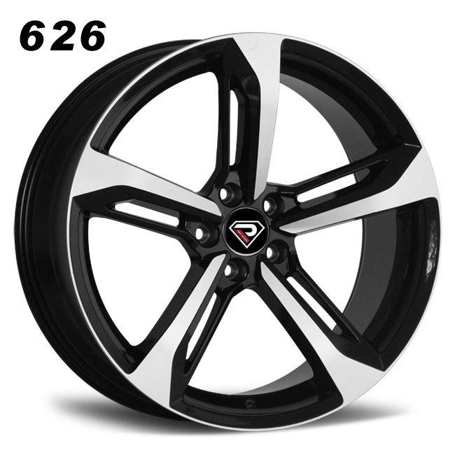 REP 626 RS7 design custom black machined face lip luxury multi spoke R20 5 stud via jwl cast wheels