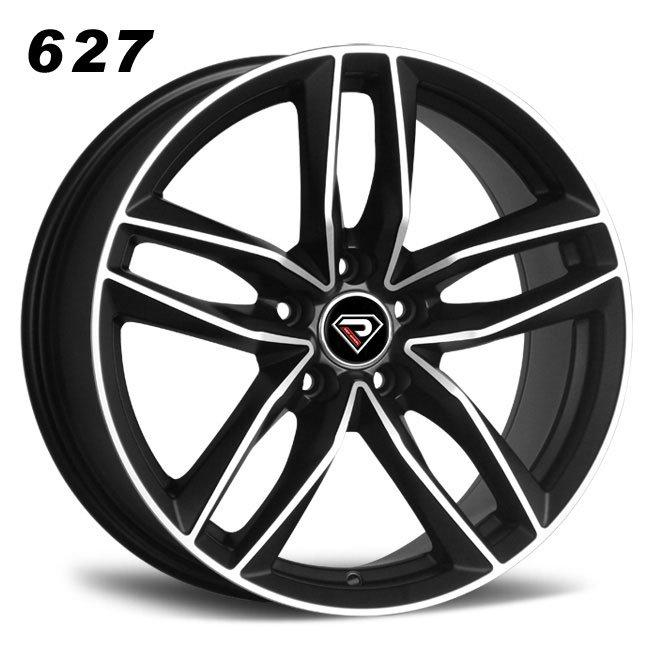 REP 627 RS6 design matte black machined face luxury high quality double five spoke R20 5 stud via jwl cast wheels