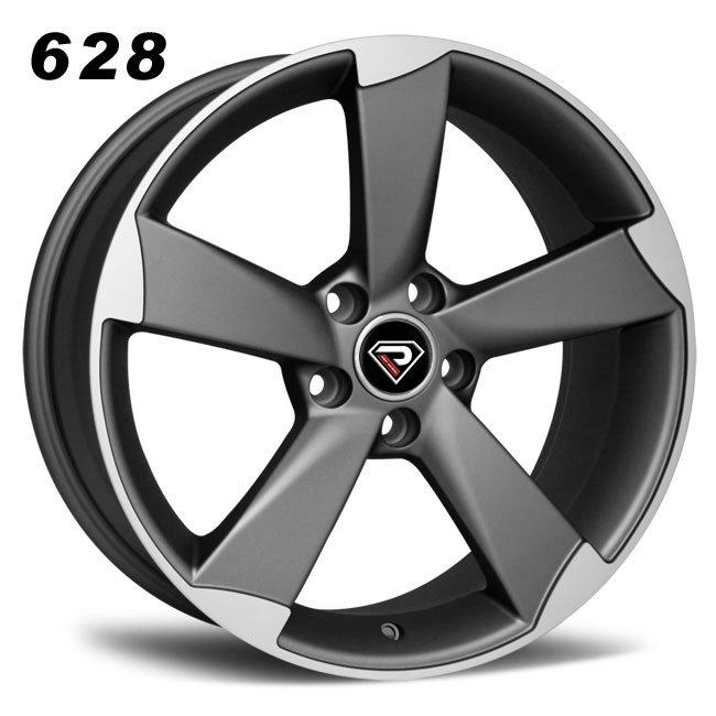 REP 628 TT RS design gunmetal machined face high quality five spoke R22 5 stud via jwl cast alloy wheels