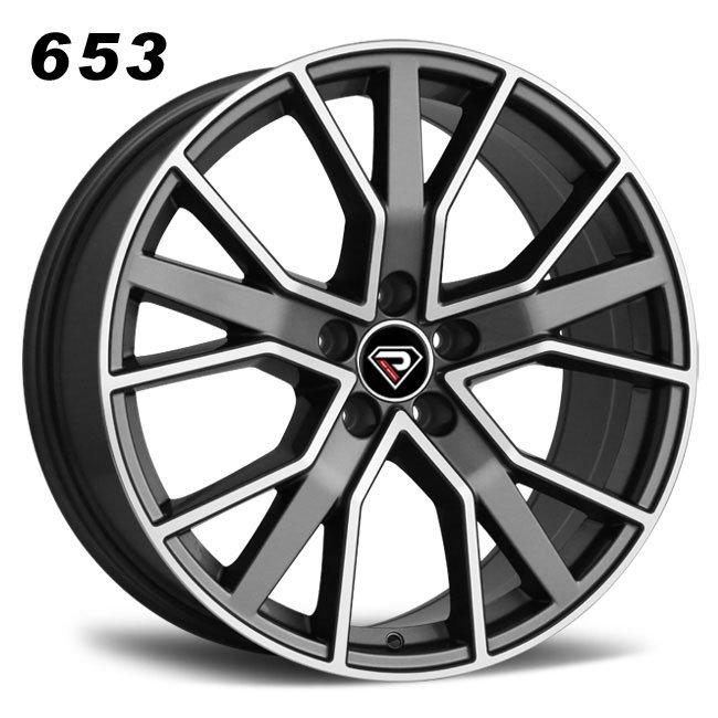 REP 653 RS6 2016 design gunmetal machined face high quality multi spoke R21 5 stud via jwl cast alloy wheels