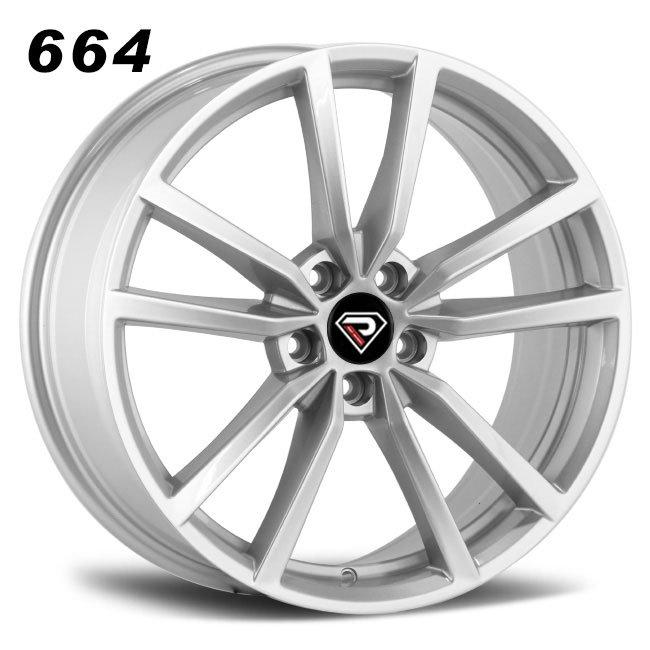 REP 664 New Golf R design slliver high quality double five spoke R18 5 stud via jwl cast alloy wheels