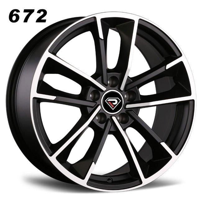 REP 672 New S8 design matte black machined lip high quality doule five spoke R18 5 stud via jwl cast alloy wheels