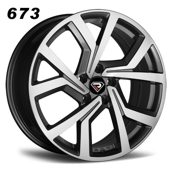 REP 673 New GTI design gunmetal machined lip high quality roating spoke R18 5 stud via jwl cast alloy wheels