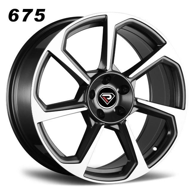 REP 675 New TT RS design gunmetal machined lip high quality roating spoke R18 5 stud via jwl cast alloy wheels